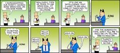 The Dilbert Strip for June 17, 2012. I would love to do this. My fearless leaders would probably do the same thing.