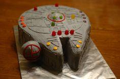 Millenium Falcon cake   Millenium Falcon cake for a boy's bi…   Flickr