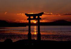 Kostenloses Bild auf Pixabay - Sonnenuntergang, Schrein, Meer