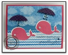 Birthday Whale - Oh Whale and Rain or Shine stamp sets