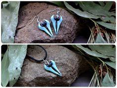 Halo Covenant Energy Sword Polymer Clay Earrings or by xxLadyBaba