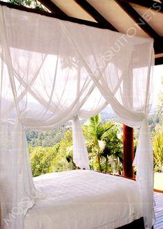 Cotton mosquito nets. Q size.