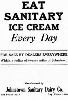 Vintage Johnstown: Sanitary Ice Cream