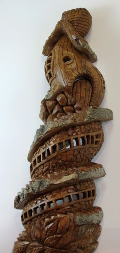Bark Carving - #26 - Detailed view