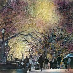 John Salminen. April In Central Park Art Of Watercolor