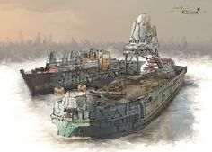 http://samice.cgsociety.org/art/boat-photoshop-river-concept-art-drawing-painting-sci-fi-artwork-illustration-sketch-2d-1169197