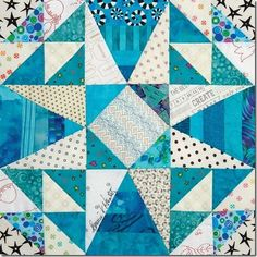 """Straights of Mackinac"" block by Bonnie Hunter in Quiltmaker's 100 Blocks mag. vol.#14"