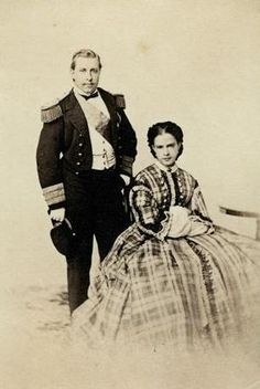 King Luís I and Queen Maria Pia de Sabóia, in 1863 - Ajuda National Palace Queen Victoria Family Tree, Charles Emmanuel, Portuguese Royal Family, King Of Italy, History Of Portugal, Royal Photography, European History, American Civil War, Grace Kelly