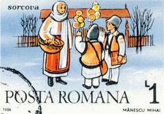 Sorcova on a Romanian postage stamp New Years Traditions, Ursula, Stamp Collecting, Eastern Europe, Folklore, Postage Stamps, My Childhood, Disney Characters, Fictional Characters