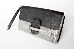 ZURRA CLUTCH | Black/Cobra - #stellaandjamie #makeityourown #fashion #giveaway : http://www.stellaandjamie.com/makeityourown-pinterest-contest/