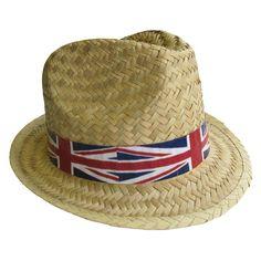 0ad6fda8440 Black Velour Bowler Hat with Union Jack Band
