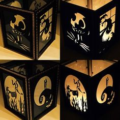 Nightmare Before Christmas Inspired Lantern by PracPerfCrafts Imprimibles Halloween, Manualidades Halloween, Adornos Halloween, Disney Halloween, Holidays Halloween, Halloween Crafts, Halloween Decorations, Halloween Fashion, Nightmare Before Christmas Wedding