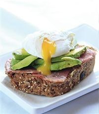 Weigh-Less Online - Egg And Bacon Open Sandwich Healthy Food, Healthy Eating, Healthy Recipes, Eating Plans, Bacon, Sandwiches, Pork, Eggs, Weight Loss