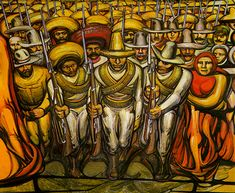 The Revolutionaries by David Alfaro Siqueiros