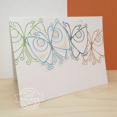 @stampendous ous Butterflies #card by Jen Walker #papercrafts
