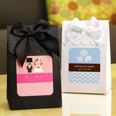 Personalized Wedding Candy Bags Favors for Engagement, Bridal shower, Rehearsal dinner, Wedding (($))