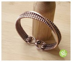 Simple wire copper cuff woven copper bangle by FromRONIKwithLove