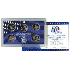 2004-S State Quarters 5-Coin Proof Set