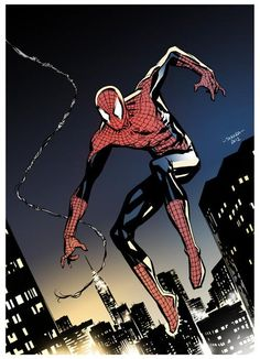 Spider-Man by one of my favorite artists Marcio Takara. http://marciotakara.deviantart.com/