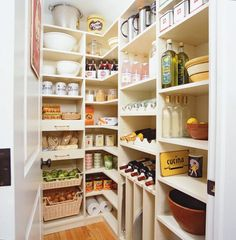 """Traditional Pantry with Rev-A-Shelf 4WV-18I 4WV Series 17.5"""" Wide Pull Out Woven Basket with Canvas Line, Hardwood floors"""