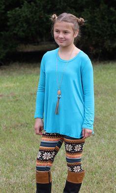 Kid's new flowy high low,kid's perfect fall tunic