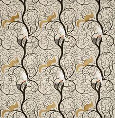 Squirrel & Dove fabric by Sanderson
