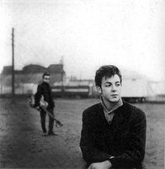 Paul McCartney and Stuart Sutciffe