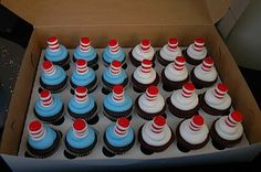 Tara's Cupcakes: Dr. Suess The Cat in the Hat cake and cupcakes