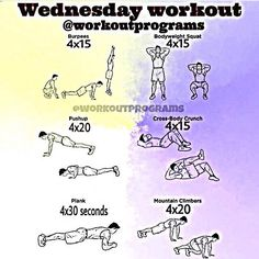 @WorkoutProgram Who's ready ready for Wednesday's workout of the day!!?? Is going to be killer! Let's get it! Double tap and tag a friend to accept! @exerciseroutines