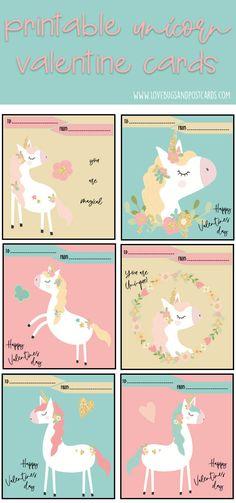 Unicorn Valentine Cards Printable {free} Unicorn Valentine Cards, Free Valentine Cards, Valentines Anime, Valentine Poster, Valentines For Kids, Valentine Nails, Valentine Ideas, Free Printable Cards, Valentine's Day Printables