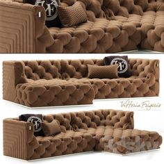 Sofa vittoriafrigerio Caracciolo Entry Furniture, Royal Furniture, Luxury Home Furniture, Mirrored Furniture, Furniture Design, Corner Sofa Design, Living Room Sofa Design, My Living Room, Living Room Decor Inspiration