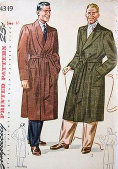1940s Men's Robe Pattern at sovintagepatterns