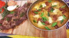 Entrañas a la chapa con humita en sartén por Felicitas Pizarro