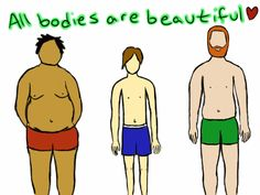 I frequently see this message on body positive boards for girls, but it is true for men, too!!