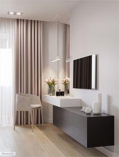 ✔ 70 best minimalist bedroom design you must try 25 Modern Bedroom Design, Home Room Design, Home Interior Design, Living Room Designs, Contemporary Bedroom, Bedroom Designs, Modern Room, Modern Contemporary, Modern Design
