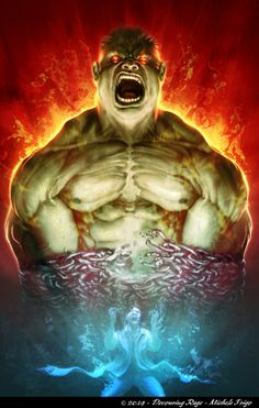 #Hulk #Fan #Art. (Hulk - Devouring Rage) By: Michelefrigo. (The 5 Star Award of ÅWESOMENESS*****!)