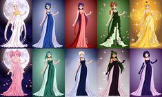 Senshi Princess Gowns by Lunakinesis on DeviantArt Princess Gowns, Doll Divine, Deviantart, Girls Princess Dresses, Princess Ball Gowns, Princess Outfits