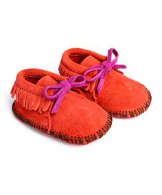 Mili Designs NYC Red Suede Moccasin Booties | zulily