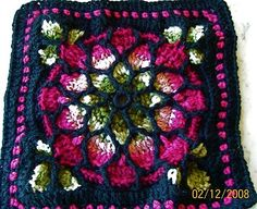 Stained Glass Afghan Square | Stained Glass Window Afghan My daughter made this! Good job!