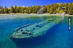 One of North America's best preserved 19th century shipwrecks...visible right from the shore.