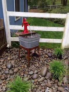 Perennial Flower Gardening - 5 Methods For A Great Backyard Fountain Using Old Washtub, Hand Water Pump, And Old Fence Boards Backyard Water Fountains, Garden Fountains, Ponds Backyard, Garden Ponds, Backyard Waterfalls, Outdoor Fountains, Koi Ponds, Outdoor Water Features, Water Features In The Garden
