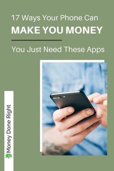 17 Ways Your Phone Can Make You Money - You Just Need These Apps! If you've got a smartphone, you're one step closer to making more money! Increase your income with these 17 money-making apps! Make More Money, Make Money From Home, Extra Money, Make Money Online, Money Tips, Money Saving Tips, Best Money Making Apps, Apps That Pay You, Work From Home Careers