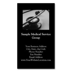 15 best business cards images on pinterest visit cards business medical stethoscope black and white business card reheart Image collections