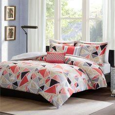Buy Intelligent Design Mackenzie 4-Piece Twin/Twin XL Comforter Set in Pink from Bed Bath & Beyond