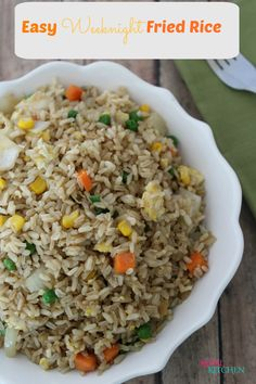 New Recipe: Easy Week Night Looking for some dinner inspiration? Click this link to learn how to make Easy Weeknight Fried Rice at home.