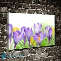 Mor Çiçekler Tablo I #çiçekli_kanvas_tablo