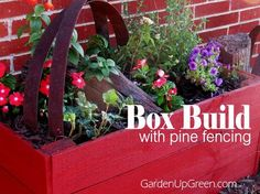 diy planter box build using pine fencing, container gardening, fences, gardening, raised garden beds, woodworking projects