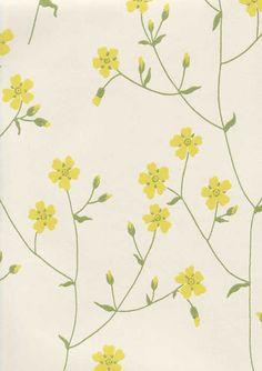 Ritva Kronlund: Niittyleinikki Coral Design, Diy Design, Spiritual Decor, Yellow Cottage, Wall Wallpaper, Earth Tones, Designer Wallpaper, Pattern Design, Vintage World Maps