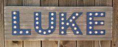 Custom 4 Letter Lighted Marquee Sign from www.twinkletwinklelittleone.com Marquee Sign, Nursery Decor Boy, Light Letters, Monogram Letters, Twinkle Twinkle, Kid Stuff, Kids Room, Babe, Room Ideas