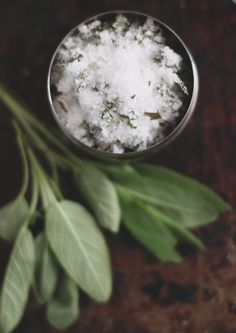 3 Edible Gifts to Give the Holiday Hostess | Free People Blog #freepeople (Sage Infused Sea Salt)